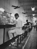African American Student Virginius B Thornton During a Sit Down Strike at a Lunch Counter