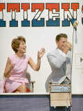 California Governor Candidate Ronald Reagan and Wife Nancy Campaigning