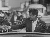 Senator John F Kennedy During Campaigning