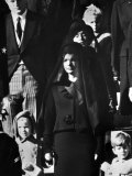Kennedy Family Members Leaving St Matthew's Cathedral During Funeral of President John F Kennedy