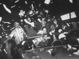 Fans of Cincinnati Reds Celebrating a Victory During 1961 World Series
