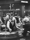 Girl Croupier at Harrah's Club