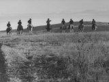 Cowboys on Long Cattle Drive from S Dakota to Nebraska