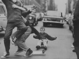 Boys Skateboarding in the Streets
