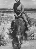 Farmer on Horseback at Irrigation Ditch