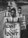 African Americans on Picket Line  Protesting Treatment at Lunch Counter