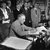 President Franklin D Roosevelt  Signing the GI Bill