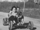 Joann Lumbert and Friend Annette  Take Ride in a Go Cart