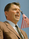 California Republican Governor Candidate Ronald Reagan During Campaign