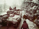 American Sherman M4 Tank at the Battle of the Bulge  the Last Major German Offensive of WWII