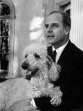 Gov Gaylord Nelson Holding His Pet Poodle