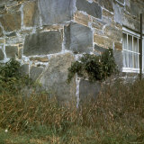 Detail of Building Showing Good Example of Early American Stonework or Masonry