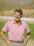 California Candidate For Governor Ronald Reagan Standing Outside on His Ranch