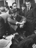 John F Kennedy on Election Night