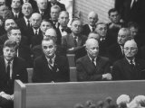 John F Kennedy at Samuel Rayburn's Funeral