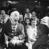 Former College Professor Charles Boas Performing as a Circus Clown
