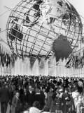 Fountains Surrounding Unisphere at New York World's Fair Closing Day