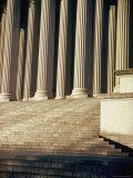 Imperial Washington Portfolio  DC Views  1952: National Archives Facade Detail Columns and Steps