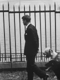 Democratic Candidate For New York Senator  Robert F Kennedy with Dogs at Gracie Mansion