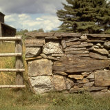 Excellent Detail of a Fieldstone Fence  a Good Example of Early American Masonry