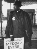 African American Picketing Outside Main Gates on Night of Opening of World's Fair