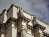 Imperial Washington Portfolio  DC Views  1952: Union Station Facade Detail