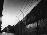Communist Built Wall Dividing East from West Berlin