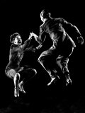 Professional Dancers Willa Mae Ricker and Leon James Show Off the Lindy Hop Papier Photo par Gjon Mili