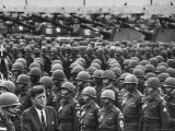 3rd Armored Division Reviewed by President John F Kennedy with Major General John R Pugh