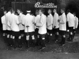 Beautillion Party  Young Men Wearing White Jackets  Bermuda Shorts and Knee Length Socks