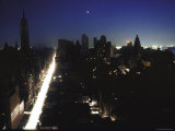 Street Scene During Blackout in New York City