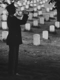 Army Bugler at Arlington Cemetery  During Ceremonies