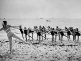 Girls of the Children&#39;s School of Modern Dancing  Rehearsing on the Beach