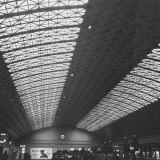 Interior of Union Station  Showing Detail of Glass and Iron Vaulted Ceiling