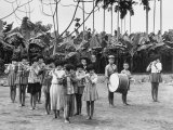 Children Playing Bamboo Flutes