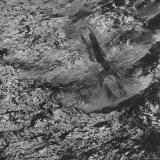 "Submarine ""Nautilus"" on Choppy Surface  Foam Wake Left in Path of Submarine"