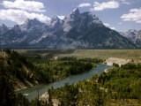 Snake River with the Grand Tetons in the Background  Jackson Hole  Wyoming