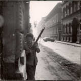 Hungarian Freedom Fighter Armed with Gun During Uprising Against Soviet Backed Regime