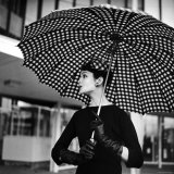 Checked Parasol  New Trend in Women's Accessories  Used at Roosevelt Raceway