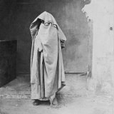Egyptian Muslim Woman Covered Completely