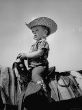 Jean Anne Evans  14 Month Old Texas Girl Riding Horseback