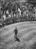 Man Standing in the Center of the Royal Enclosure at Ascot Race Track