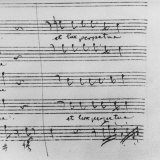 Blow Up Detail of Musical Composition Written by Wolfgang Amadeus Mozart