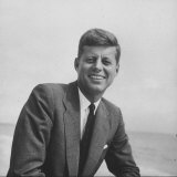 Senator John F Kennedy Smiling During Campaign
