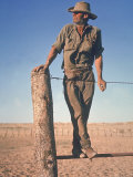 Professional Wild Horse Hunter George Girdler at His Homestead in the Outback of Australia