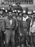 Miners with Boss of Communist Run Miners Union in Bolivia Ireno Pimentel
