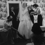 Gale Coffin Undergoing Final Fitting of Her Wedding Gown with Her Family in Long Island