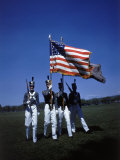 West Point Cadets Carrying US Flag