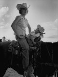 Jean Anne Evans  14 Month Old Texas Girl  Falling Asleep on Horse with Her Mother