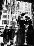 Two Elegantly Dressed Women Window Shopping Outside of Bergdorf Goodman